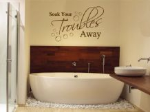 "Bathroom Wall Quote ""Soak Your Troubles Away"" Wall Art Sticker, Decal, Transfer"